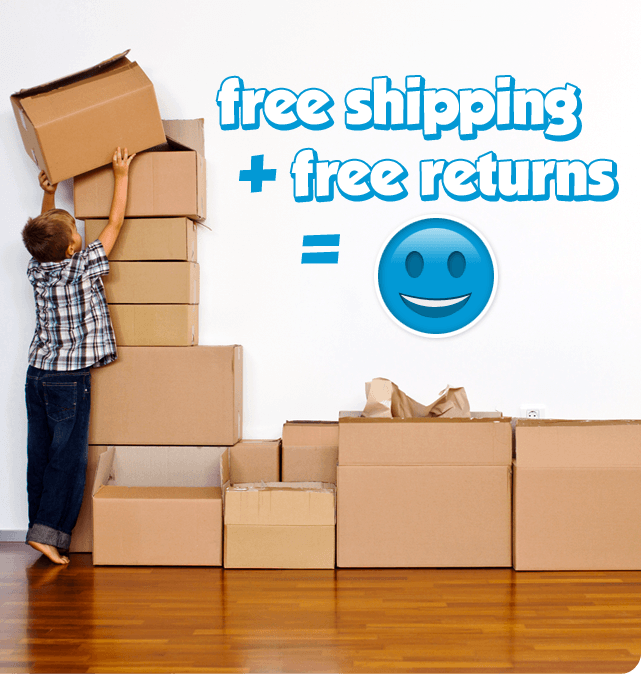 Free Shipping + Free Returns = :D