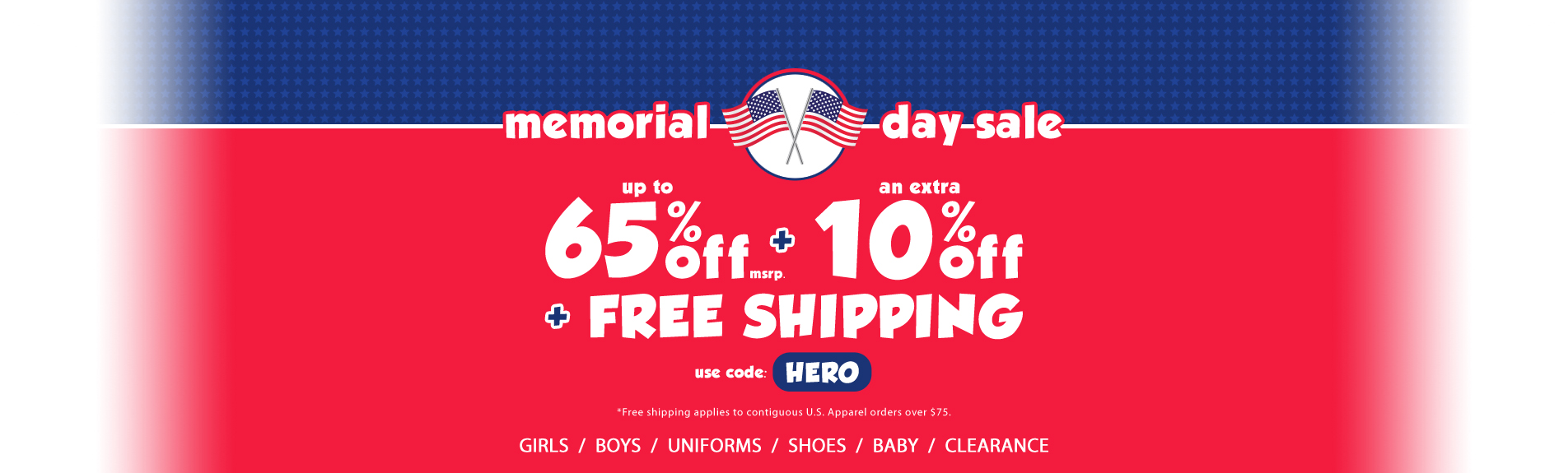 Memorial Day Sale 65% off - use code: hero / expires 5/31/2016 11:59am PST - Shop Now!