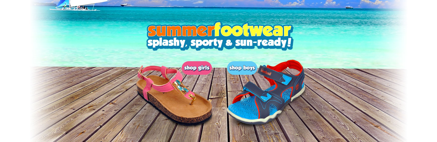 Summer Footwear: Splashy, sporty and sun-ready - Shop Boys and Girls Summer Shoes
