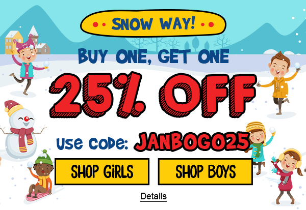 Snow Way! Buy One, Get One 25% Off. Use code: JANBOGO25. Expires 1/25/2021, 11:59 PM PST.