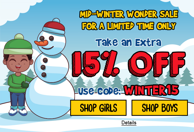 Mid-Winter Wonder Sale For A Limited Time Only. Take An Extra 15% Off. Use code: WINTER15. Expires 1/19/2021, 11:59 PM PST.