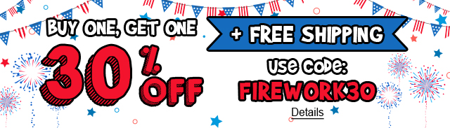 Star-Spangled Savings. Buy One, Get One. 30% Off + Free Shipping. Use code: FIREWORK30. Expires 7/6/2020, 11:59 PM PST.