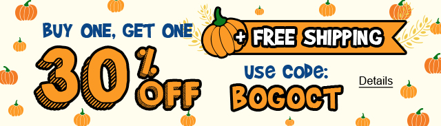 Hello October! Buy One, Get One 30% Off + Free Shipping. Use code: BOGOCT. Expires 10/2/2020, 11:59 PM PST.
