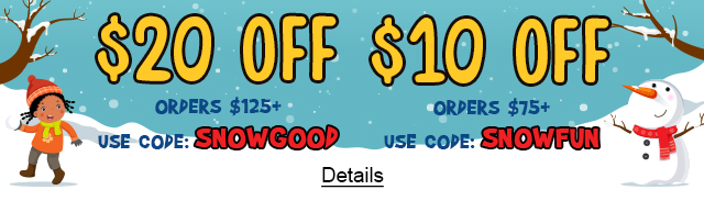 $20 Off Orders $125+ Use code: SNOWGOOD. $10 Off Orders $75+ Use code: SNOWFUN. Expires 1/27/2021, 11:59 PM PST.