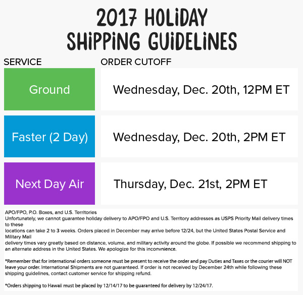 Cookie's Kids 2017 Holiday Shipping Guide
