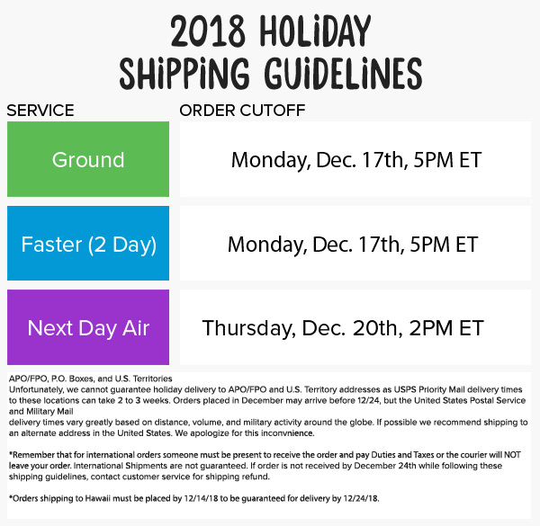 Cookie's Kids 2018 Holiday Shipping Guide