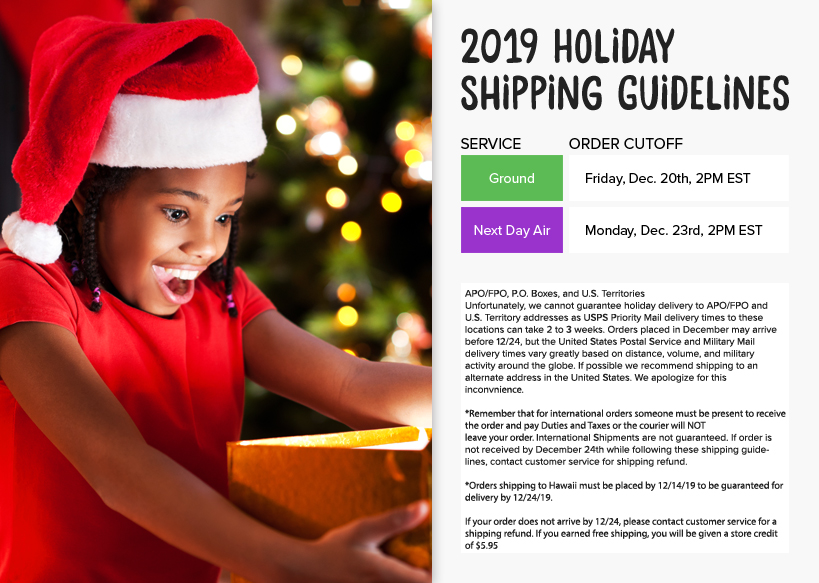 Cookie's Kids 2019 Holiday Shipping Guide