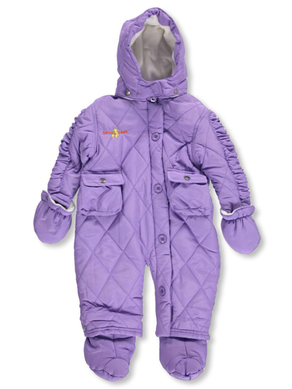 Image of Fourcast Baby Girls Glacia Snowsuit  purple 12  18 months
