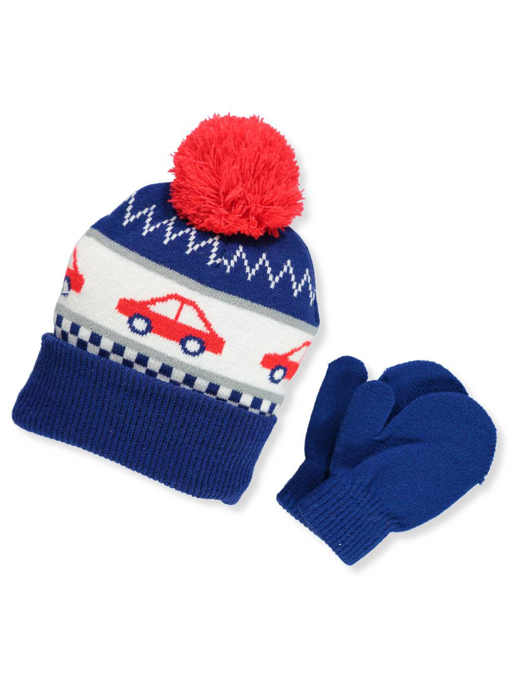 f1144613 Boys' Beanie & Mittens Set by Addie & Tate in Blue/red from Cookie's Kids