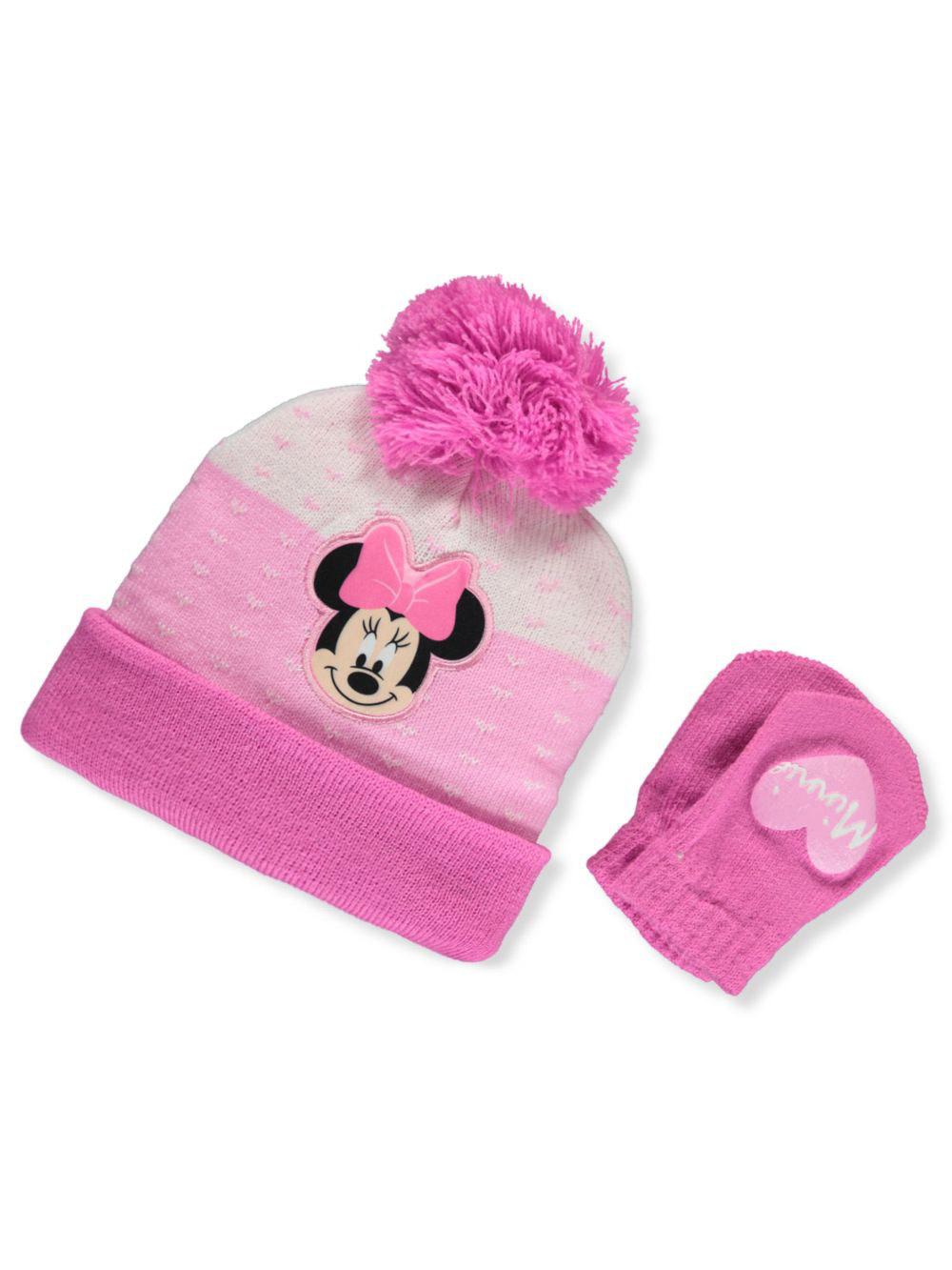 Disney Minnie Pink Beanie Set