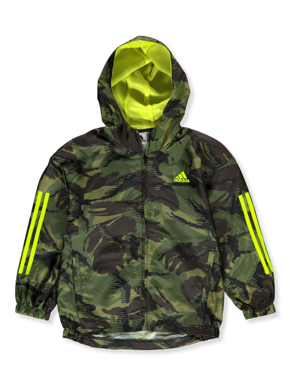Boys' Camo Hooded Windbreaker Jacket