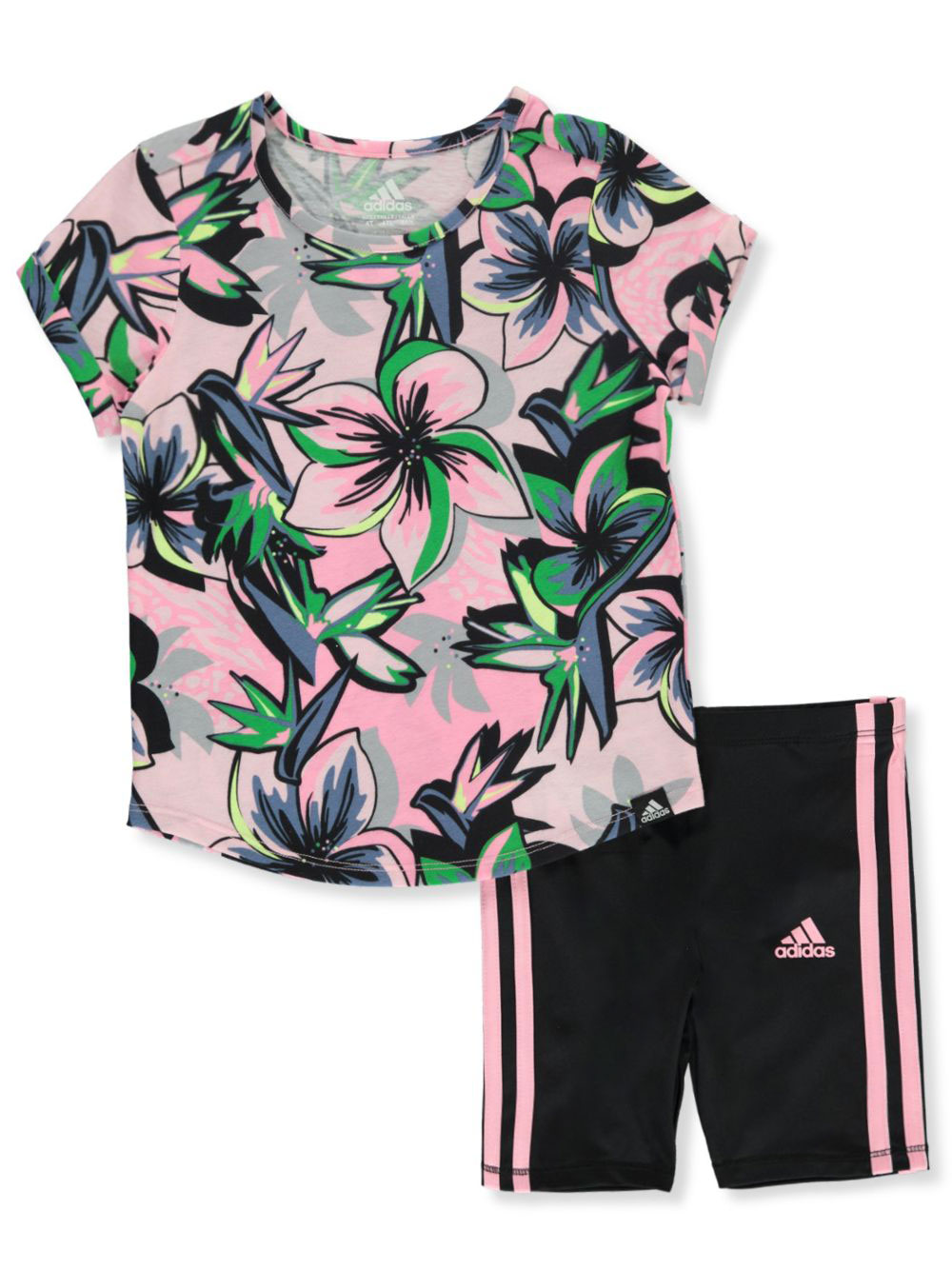 Girls' 2-Piece Bike Shorts Set Outfit