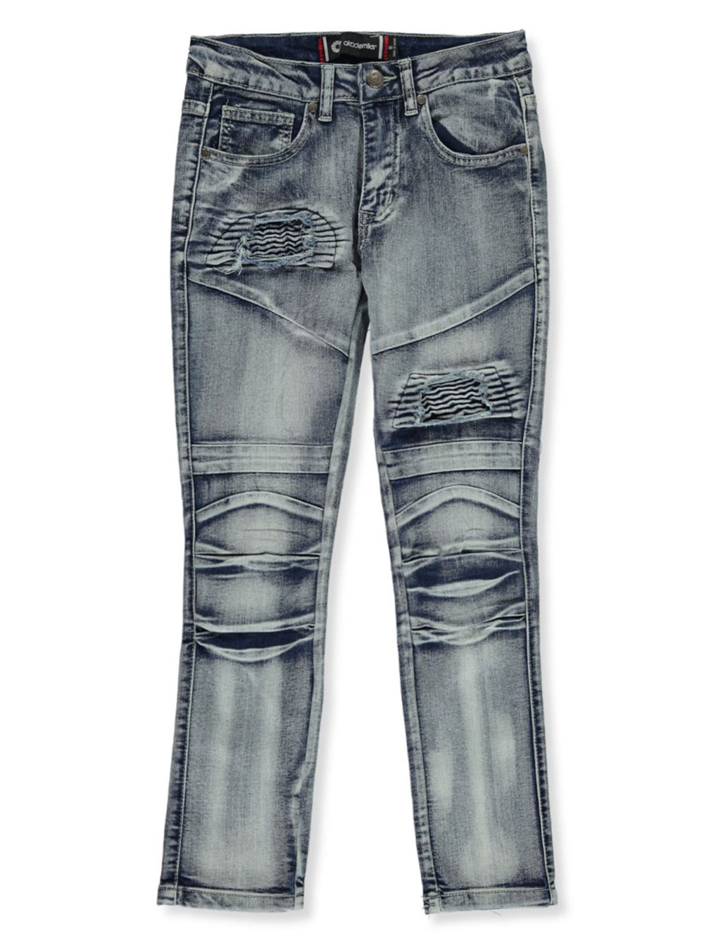Boys' Rip-Patch Moto Jeans