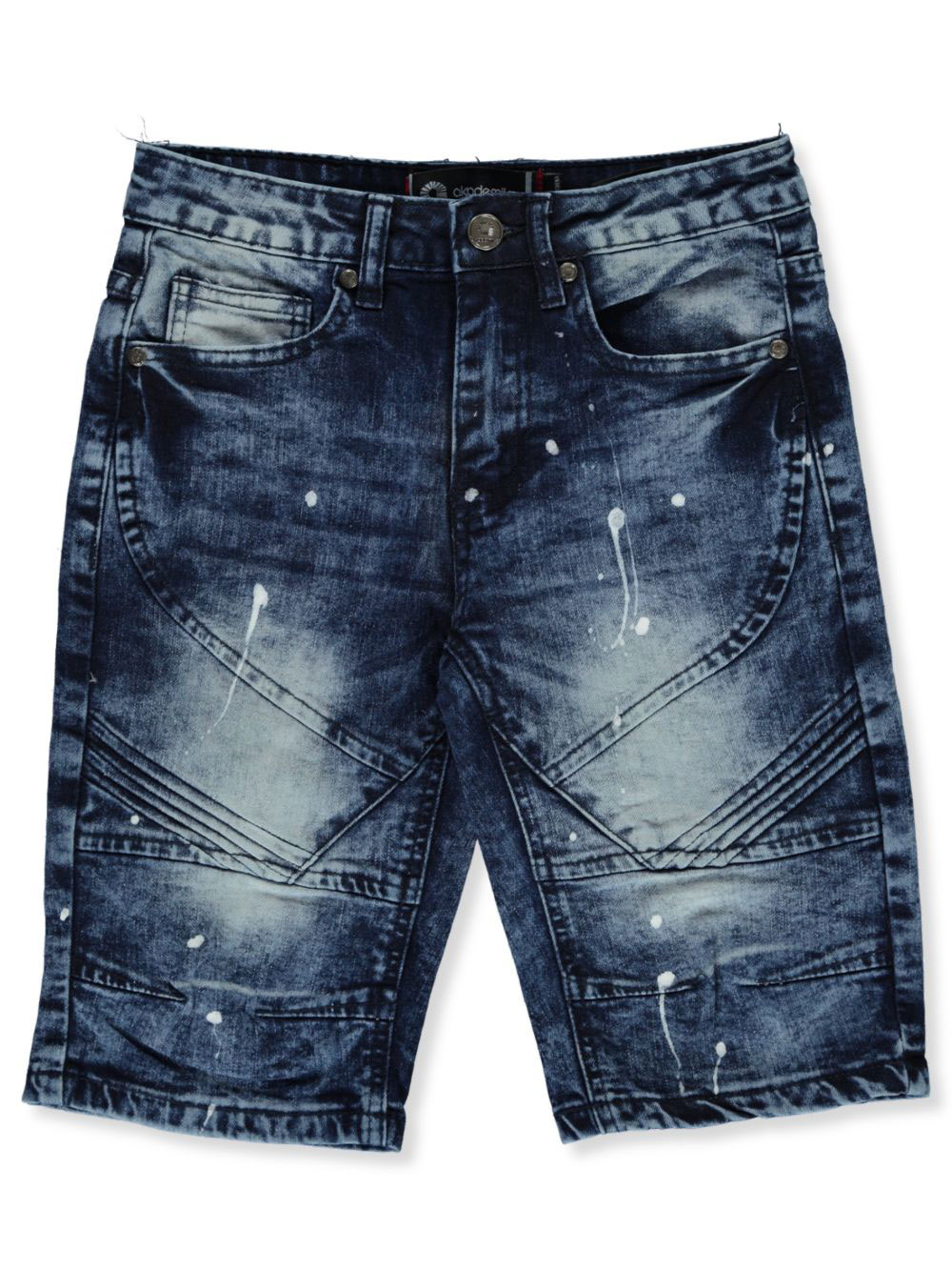 Boys' Paint Splatter Denim Moto Shorts