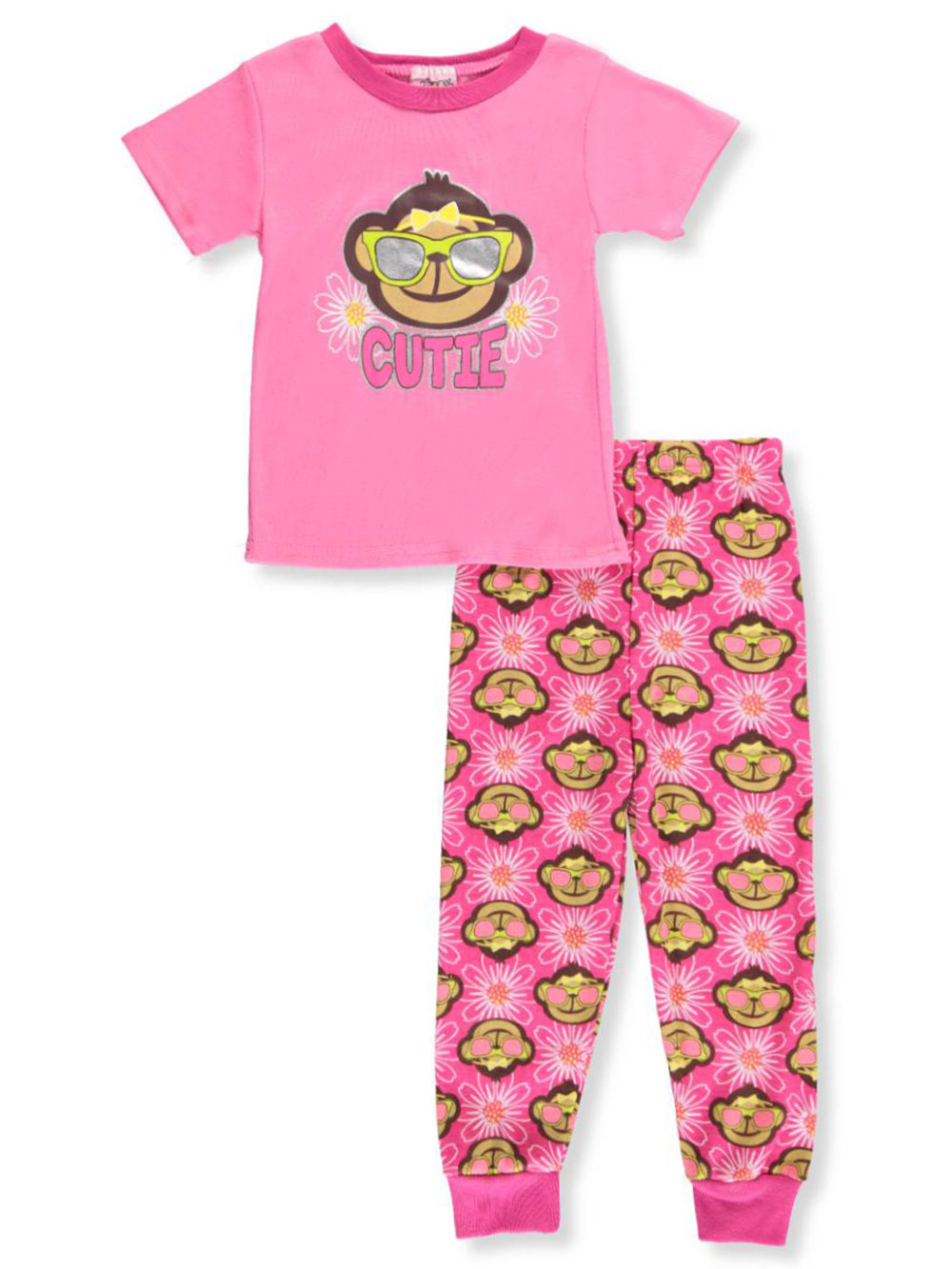 92d6cd3c203 Little Girls' Toddler 2-Piece Pajamas by 1000% Cute in Pink/multi from  Cookie's Kids