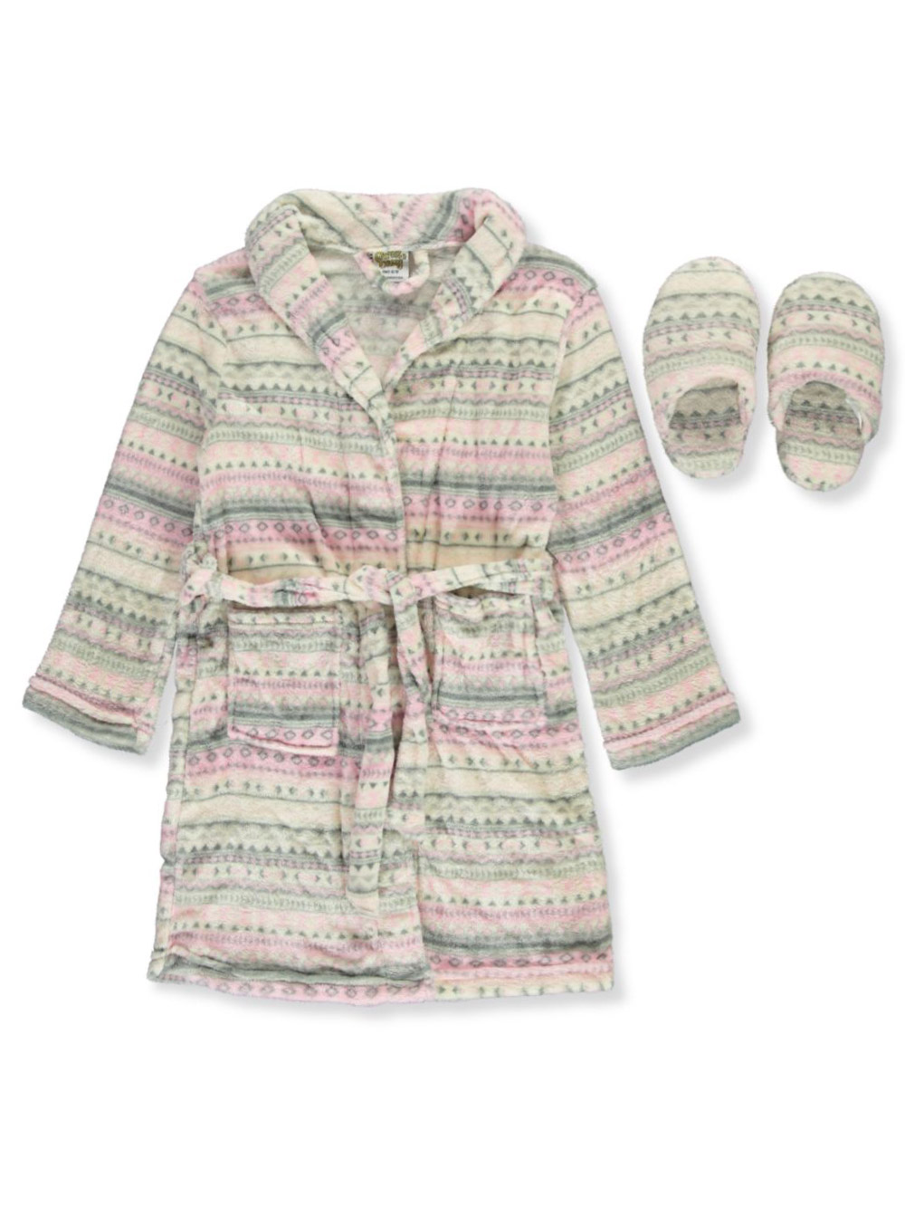 Girls Fashion Robe and Slippers Set