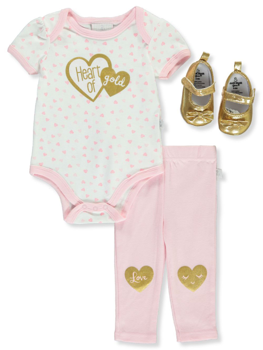 Heart of Gold 3-Piece Layette Set