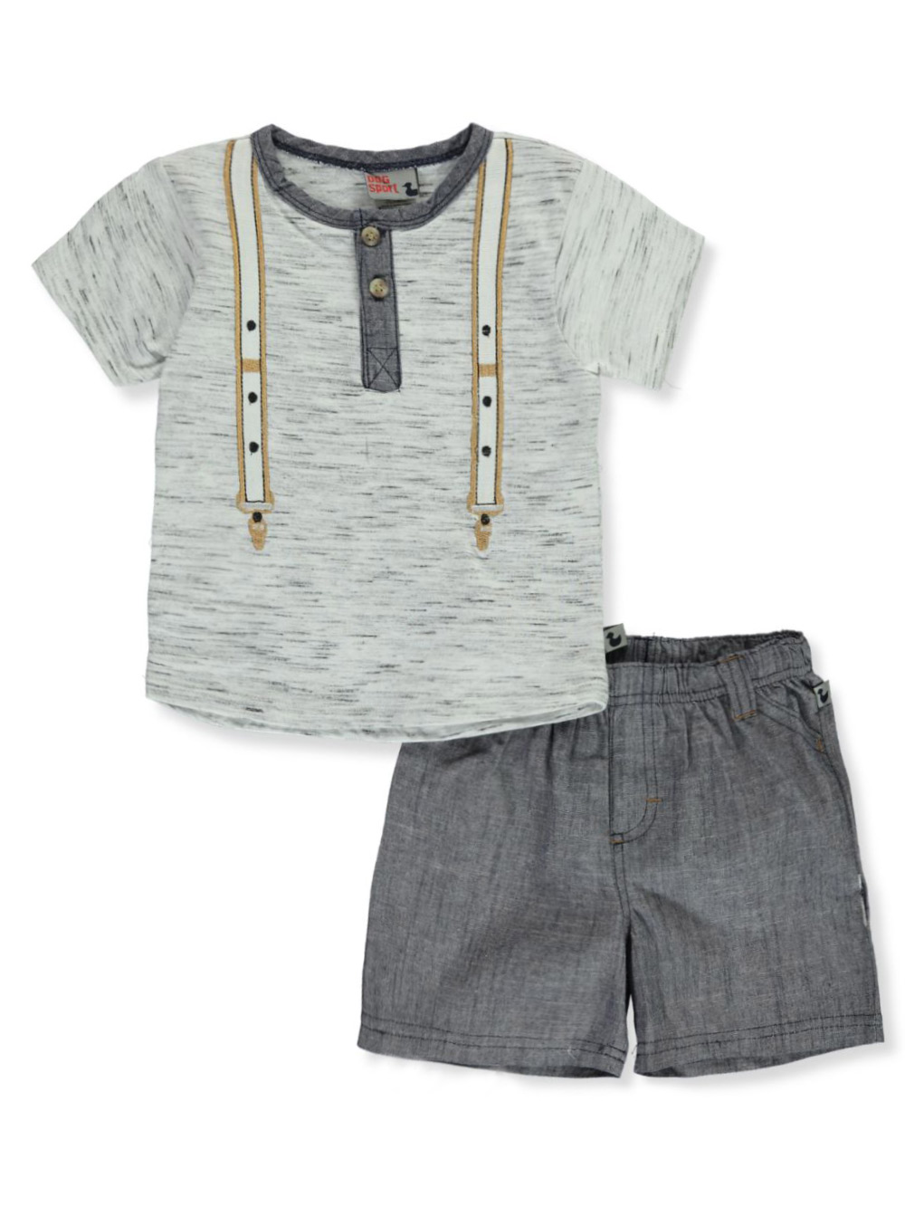 Boys Navy and Multicolor Short Sets