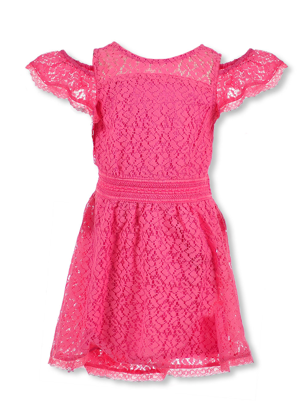 Real Love Girls' Lace Skater Dress