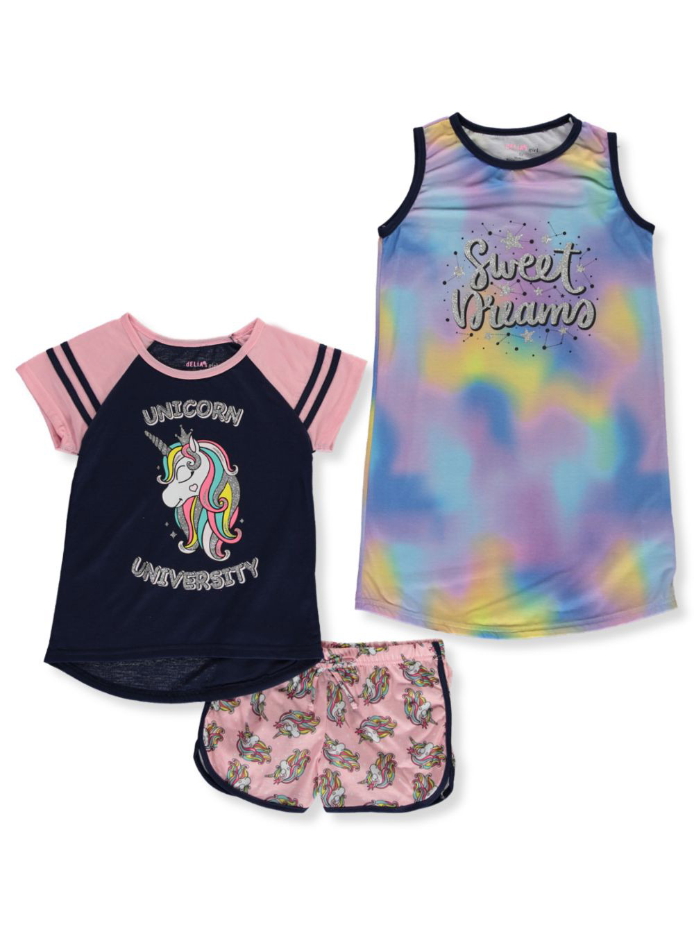 Girls' Sweet Dreams 3-Piece Pajamas
