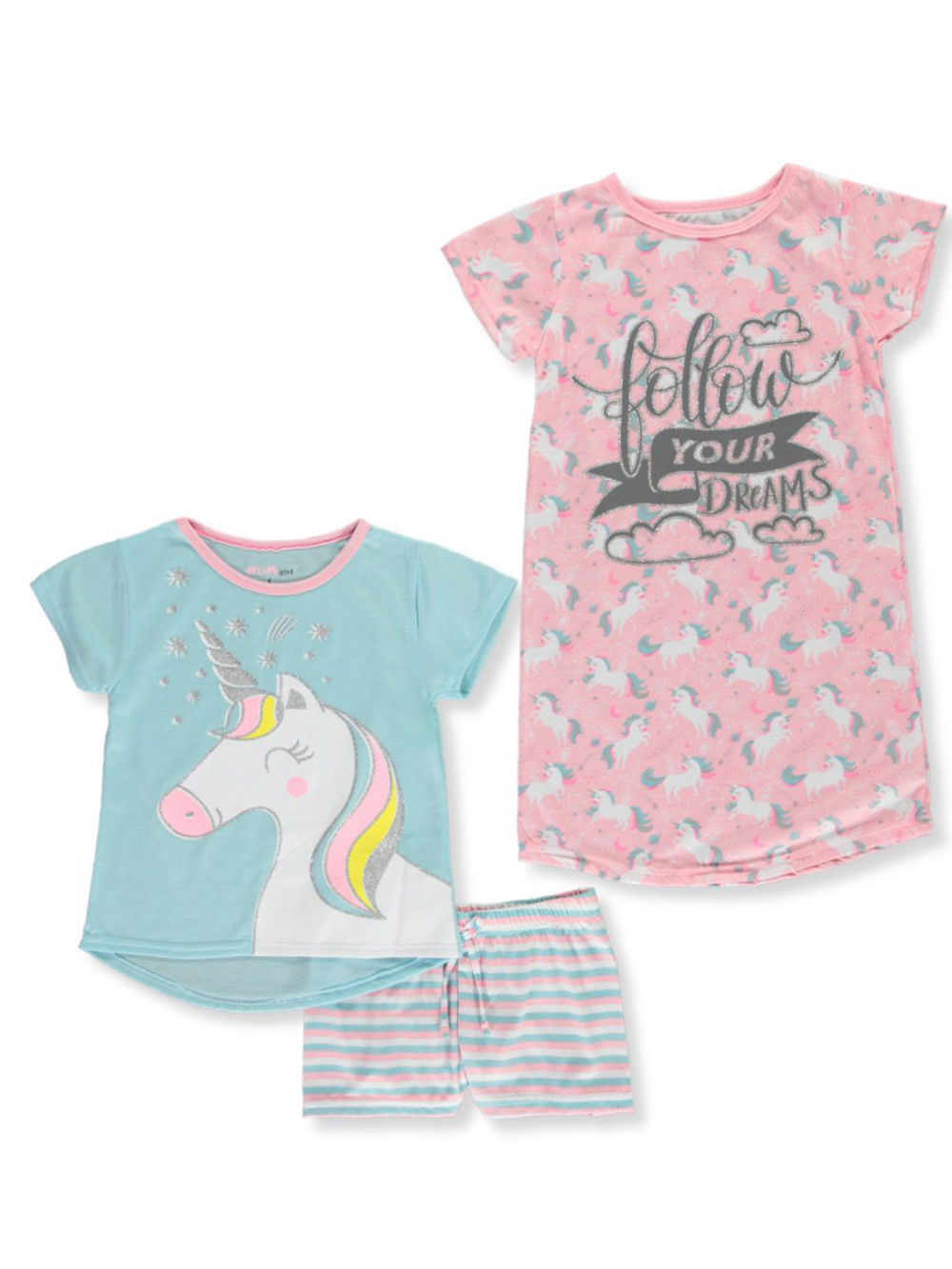 Girls Fashion 3-Piece Pajamas