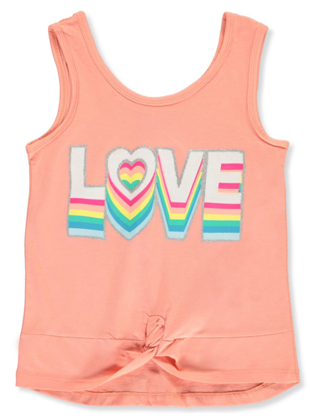 Girls' Glitter Love Tank Top