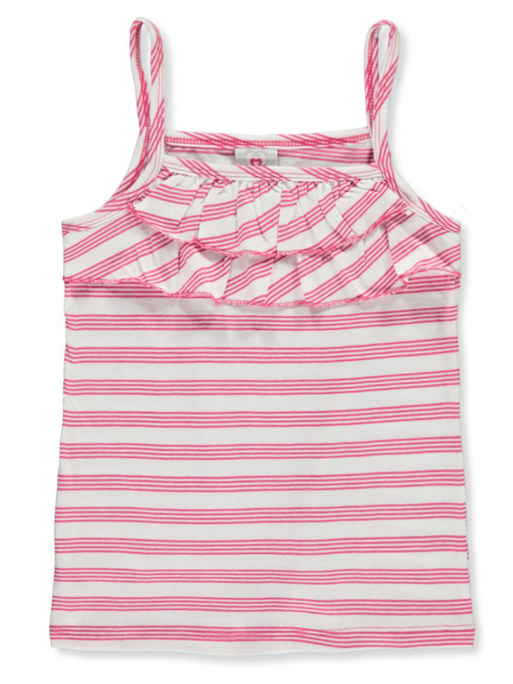 Girls' Striped Ruffle Tank Top