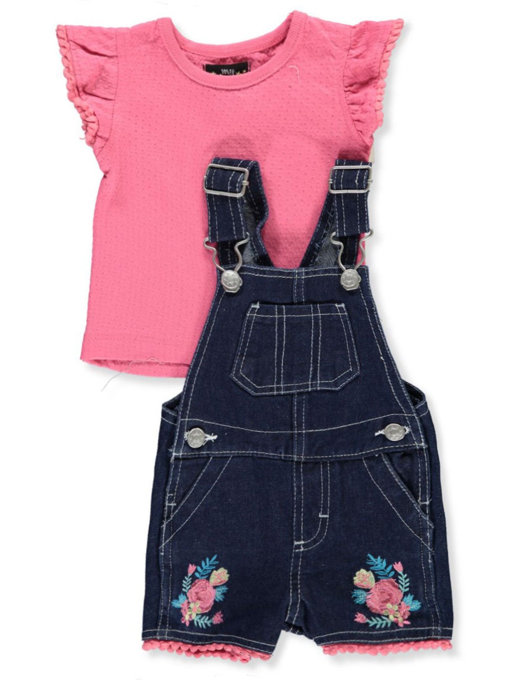Fuchsia and Multicolor Overalls and Shortalls