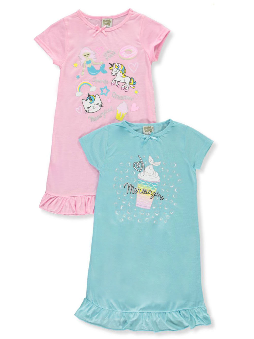 Girls Fashion 2-Pack Nightgowns