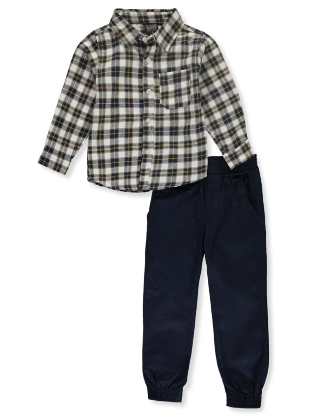 Boys Navy/Multi Button-Downs