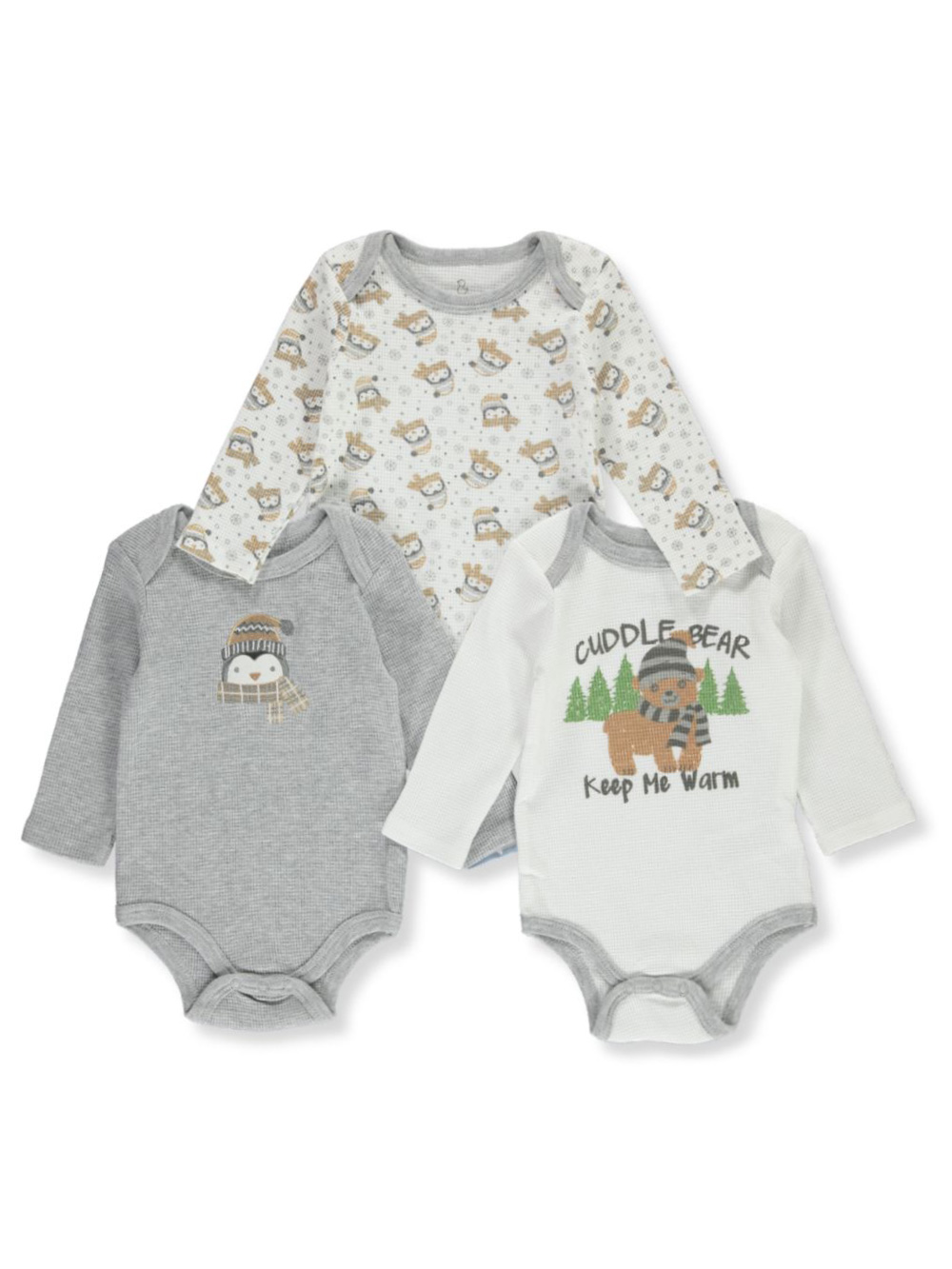 Bear 3-Pack l and s Bodysuits