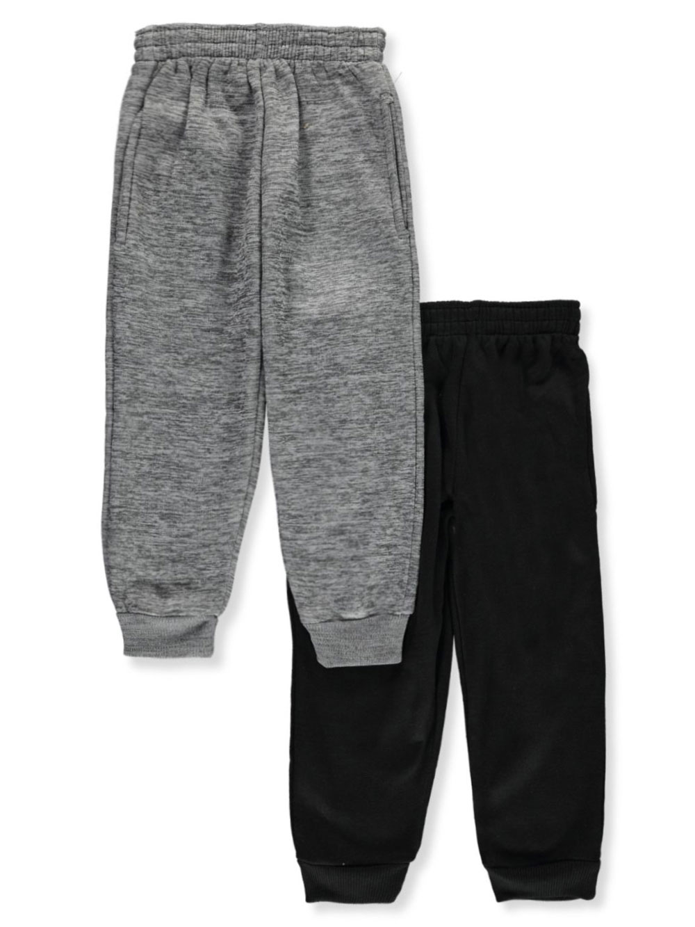 Boys Charcoal and Black Sweatpants
