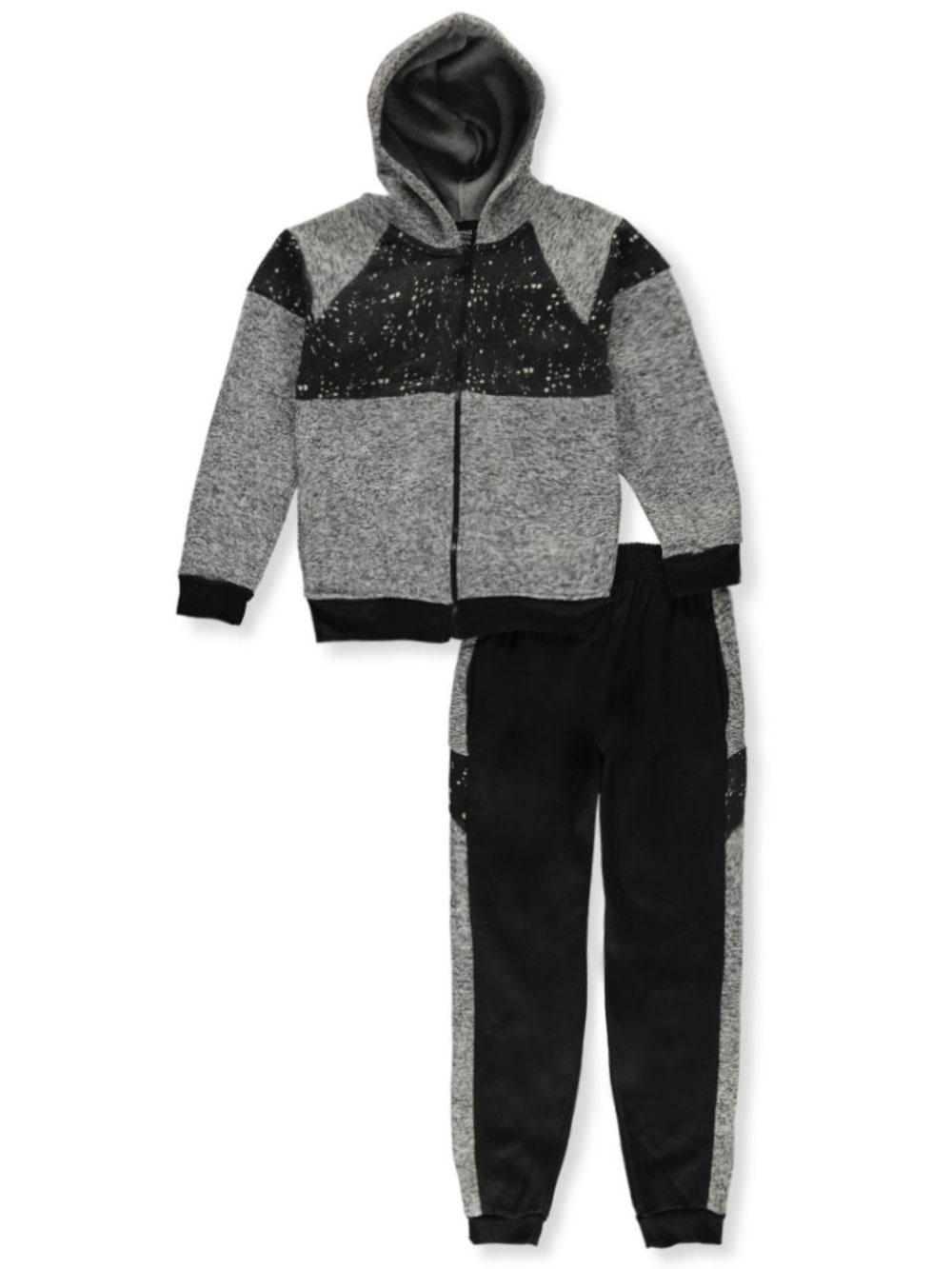 Paneled 2-Piece Sweatsuit Outfit