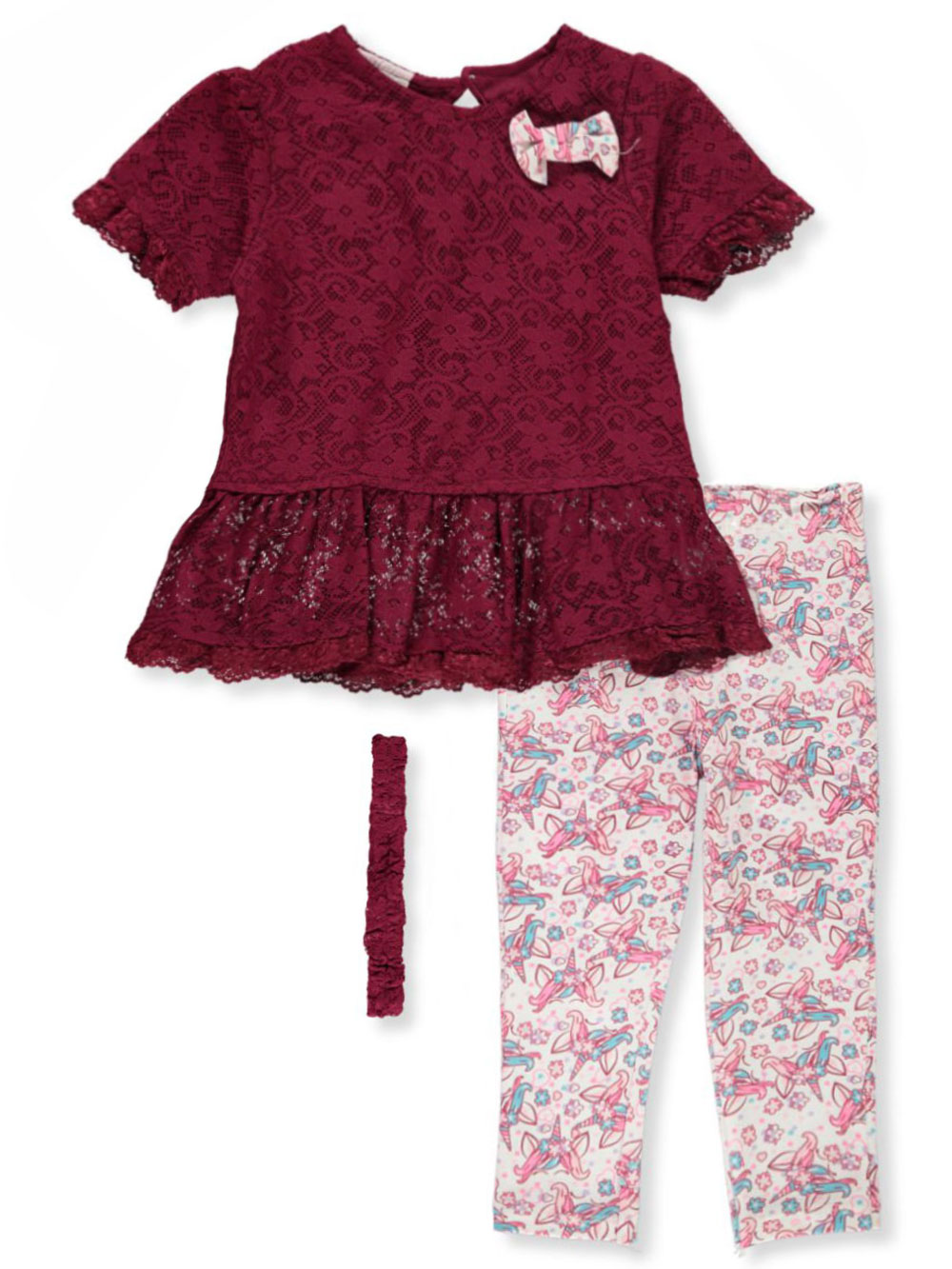 Girls Burgundy Sets