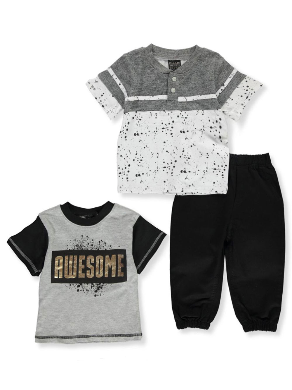 Boys Gray Multi Pant Sets