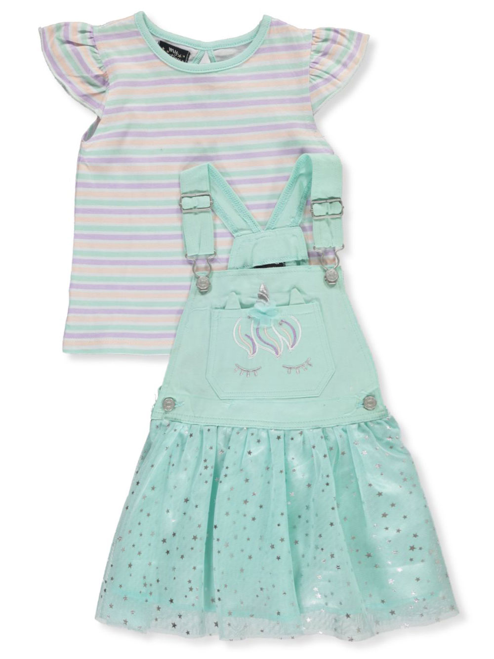 Girls Pink Overalls and Jumpers