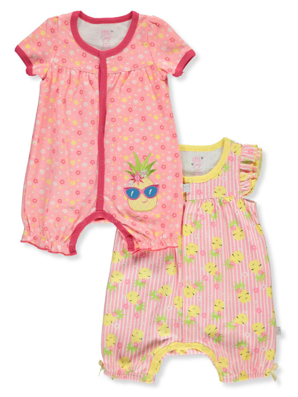 Girls' 2-Pack Rompers