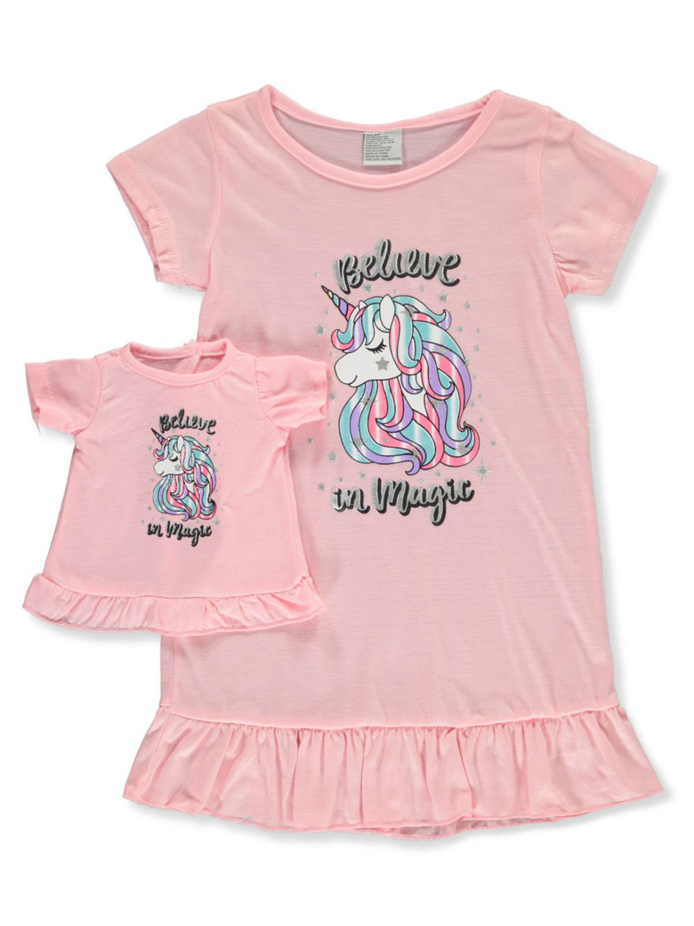 Magic Unicorn Nightgown With Doll Outfit