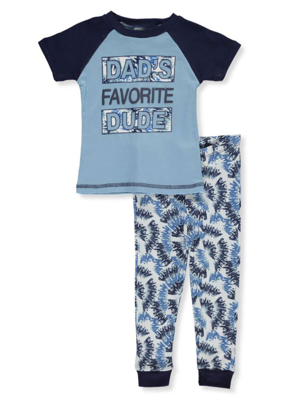 Boys White and Multicolor Sleepwear