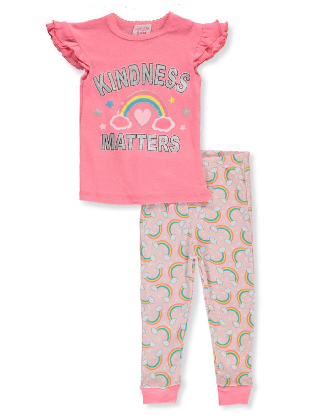 Girls' Rainbow 2-Piece Pajamas