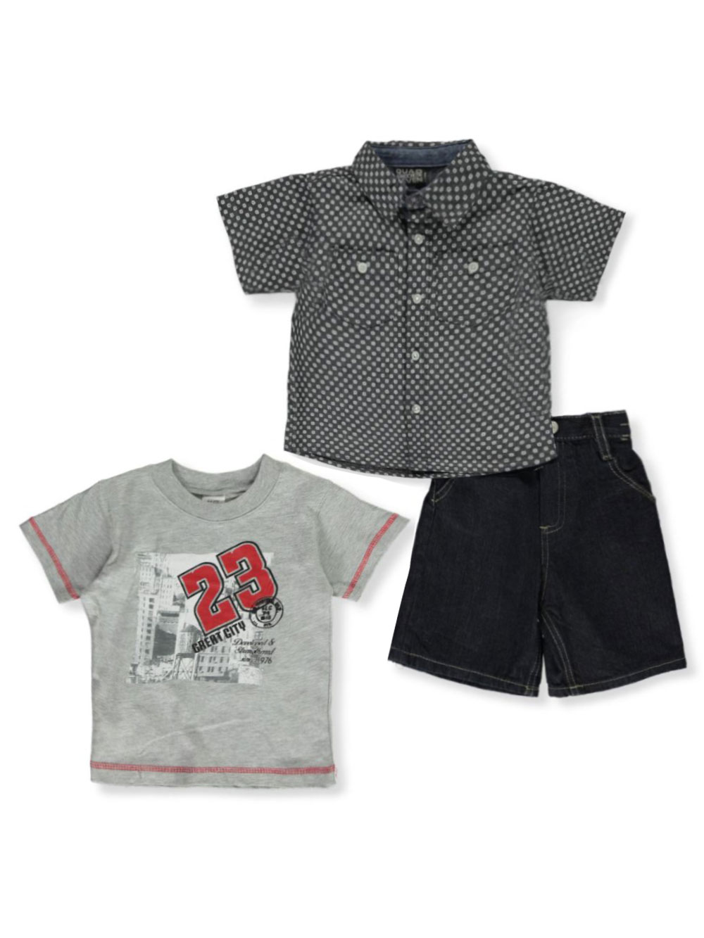 Boys Gray and Navy Sets