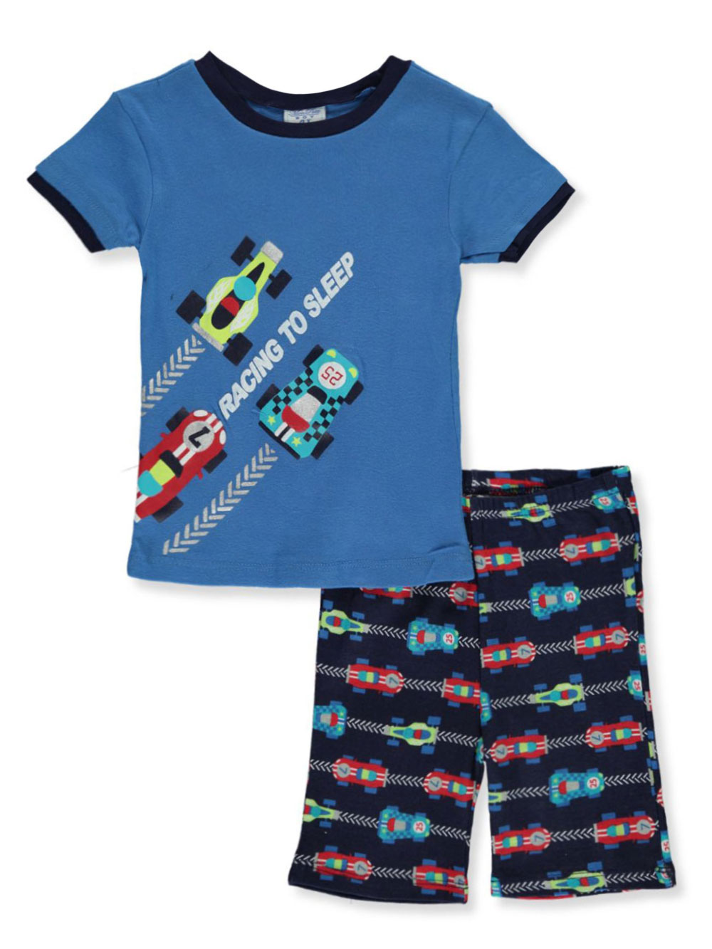 Blue and Multicolor Sleepwear