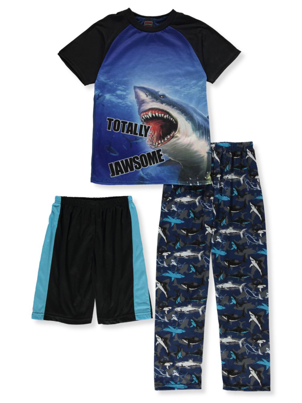 Boys' Shark 3-Piece Pajamas Set