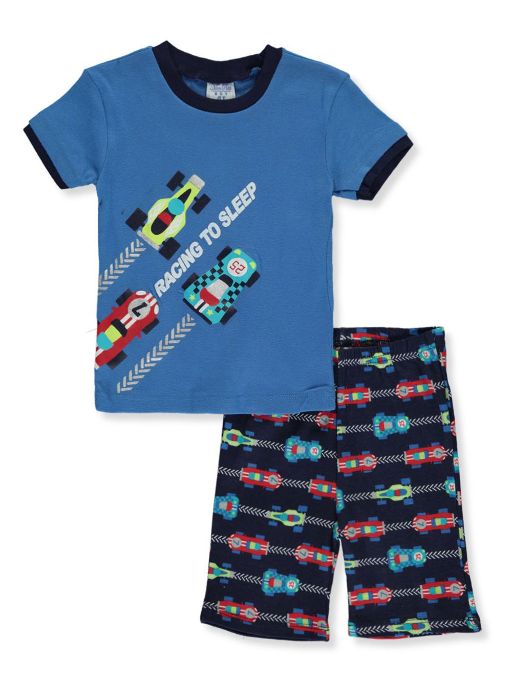 Boys Light Blue Multicolor Pajamas