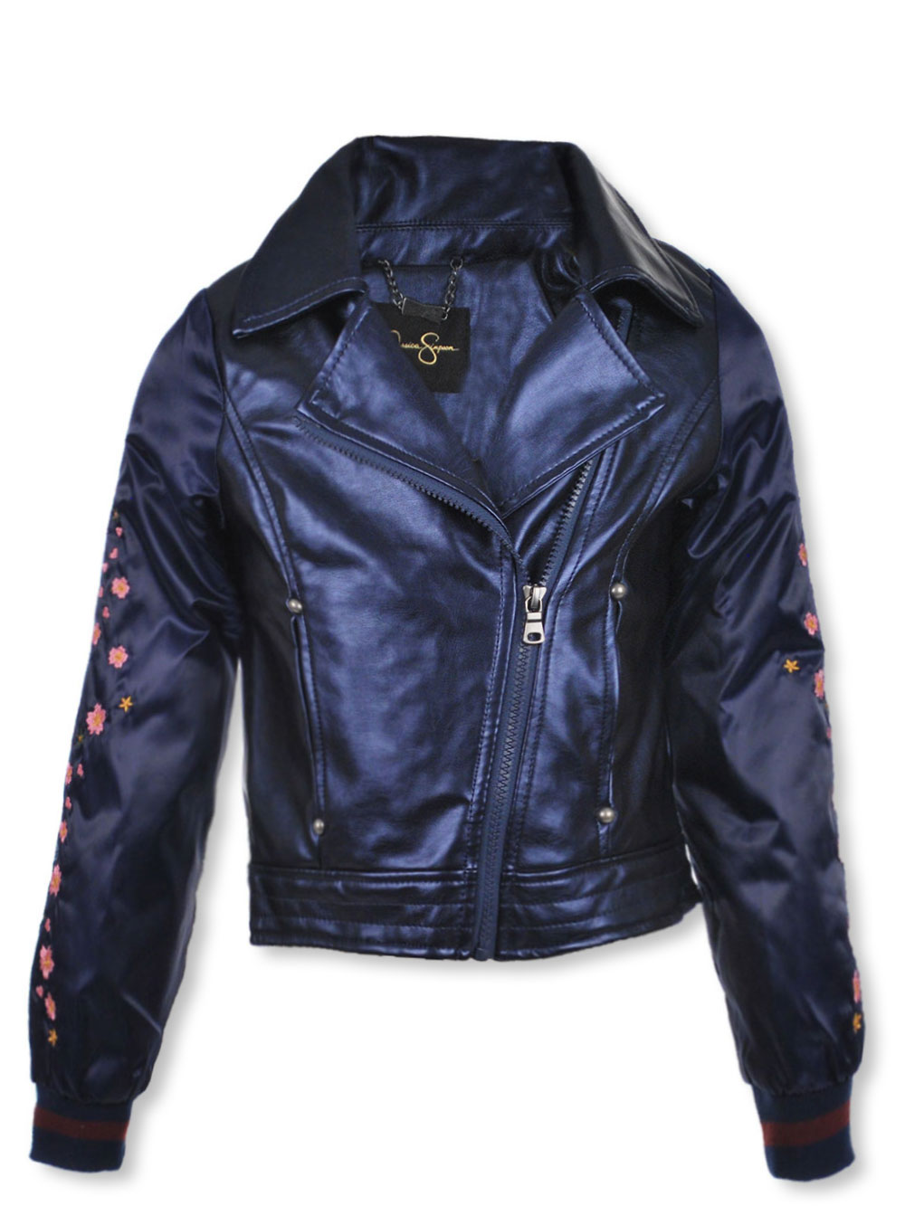896e0a2a3 Girls' Moto Jacket by Jessica Simpson in indigo and rose from Cookie's Kids