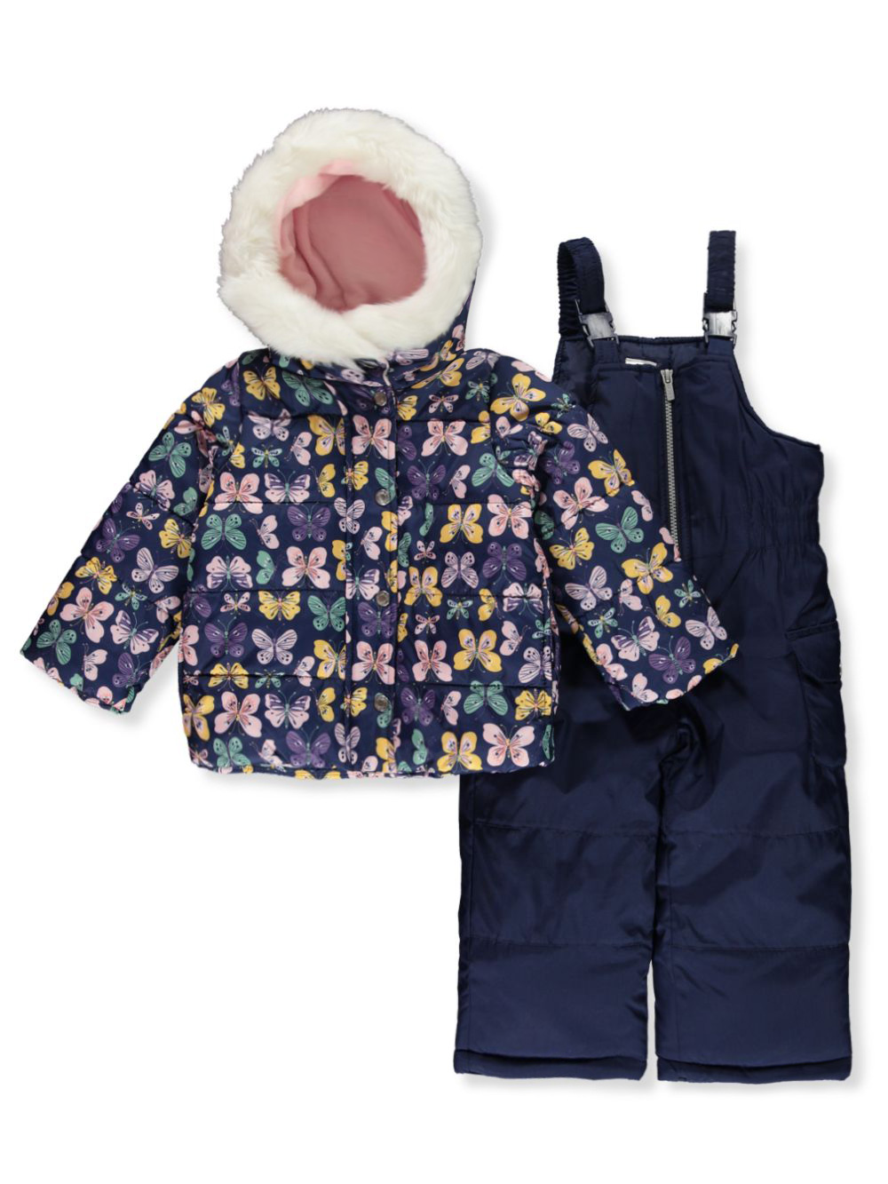 Girls Cream Snowsuits