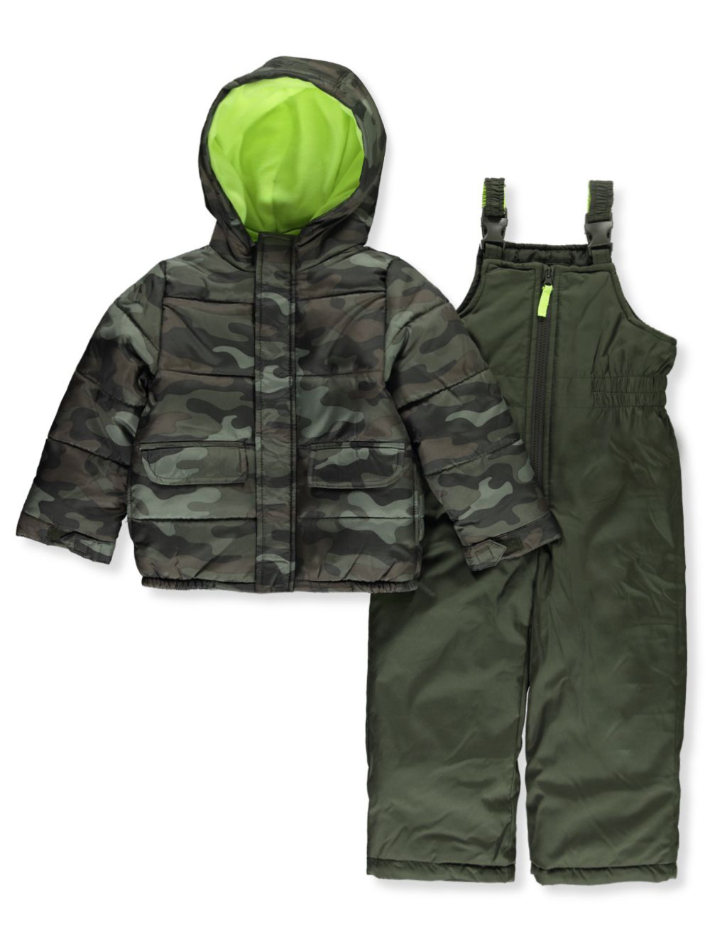 Boys Olive Snowsuits