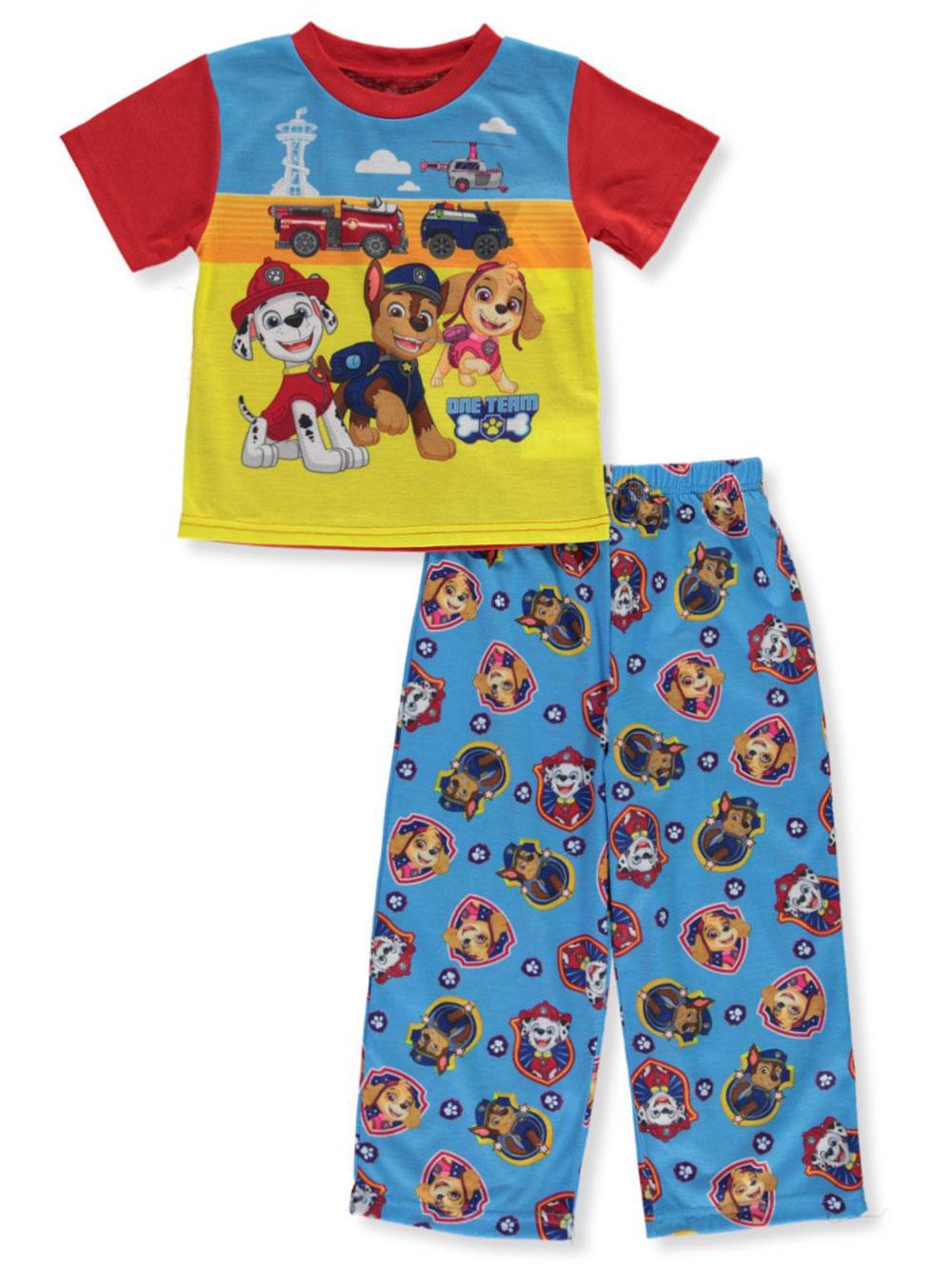 Boys Blue Paw Patrol Chase All In One Pyjamas PJs Kids Childrens Nightwear