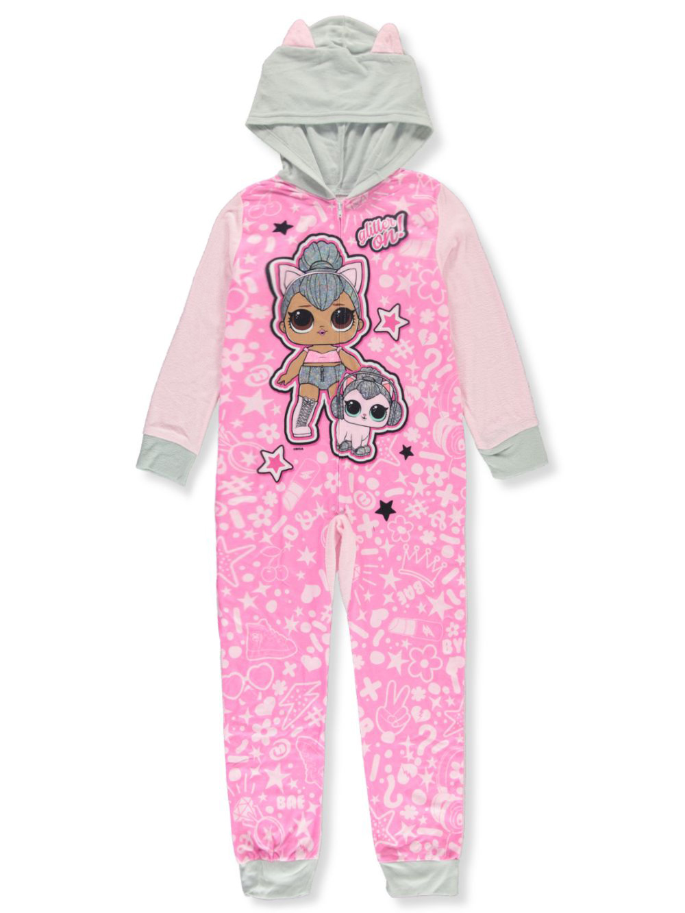 Glitter On! Hooded 1-Piece Pajama Suit