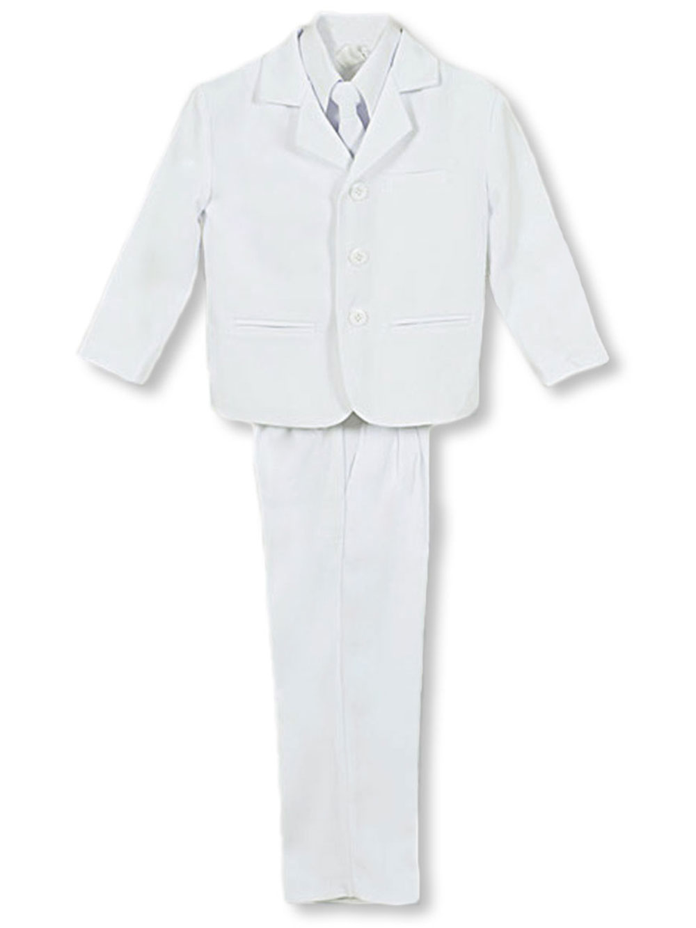 Image of Kaifer Twill Formal 5Piece Suit Sizes 4  7  white 4